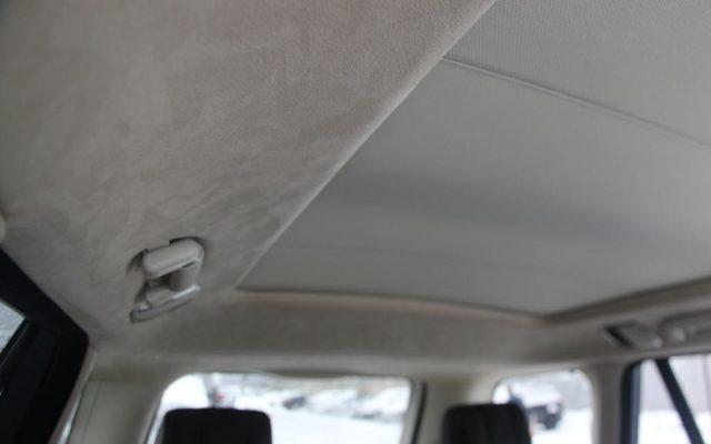 Перетяжка потолка Range Rover в Алькантару