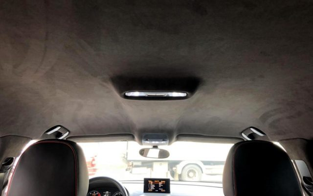 Перетяжка потолка в Алькантару «Audi A3 Sportback»