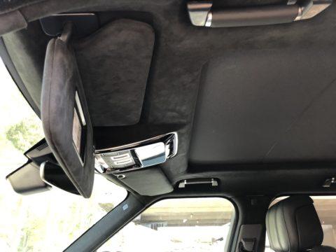 Перетяжка потолка в Алькантару Range Rover