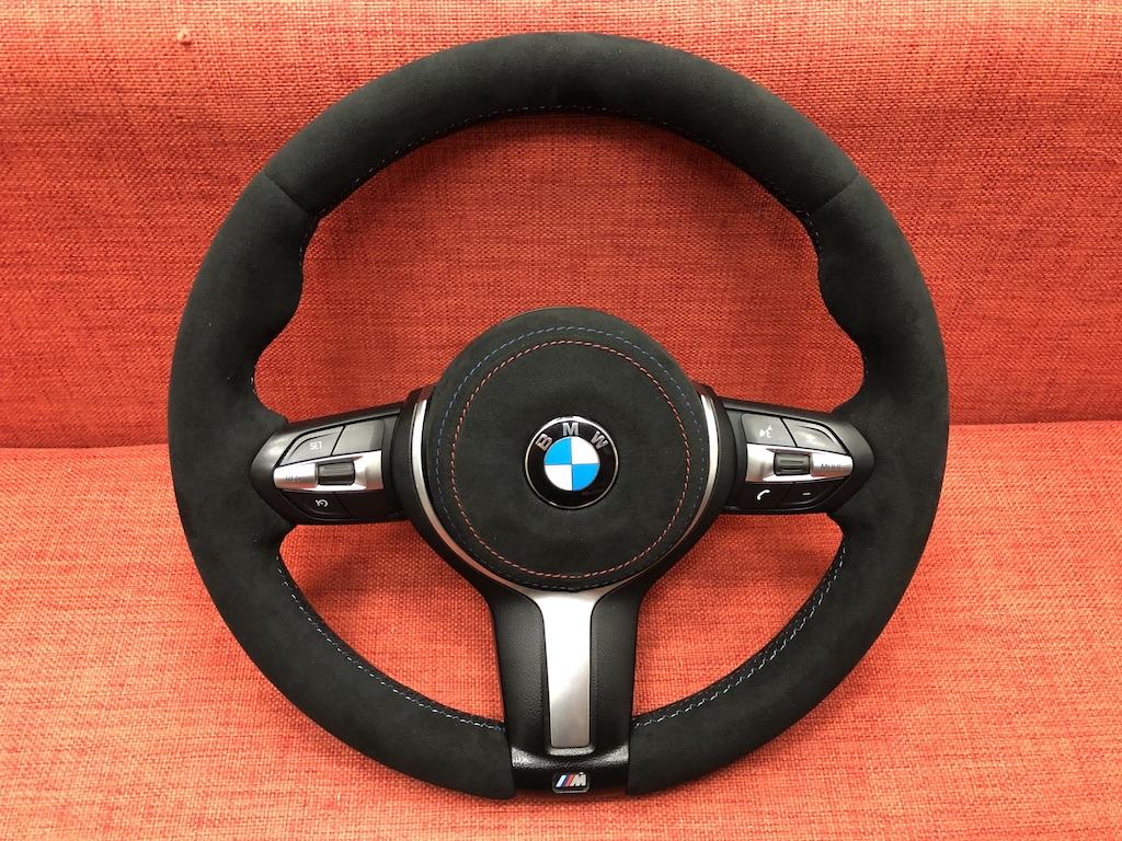 Перетяжка руля BMW 5 Alcantara