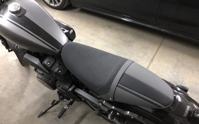 Перетяжка мото сиденья Yamaha